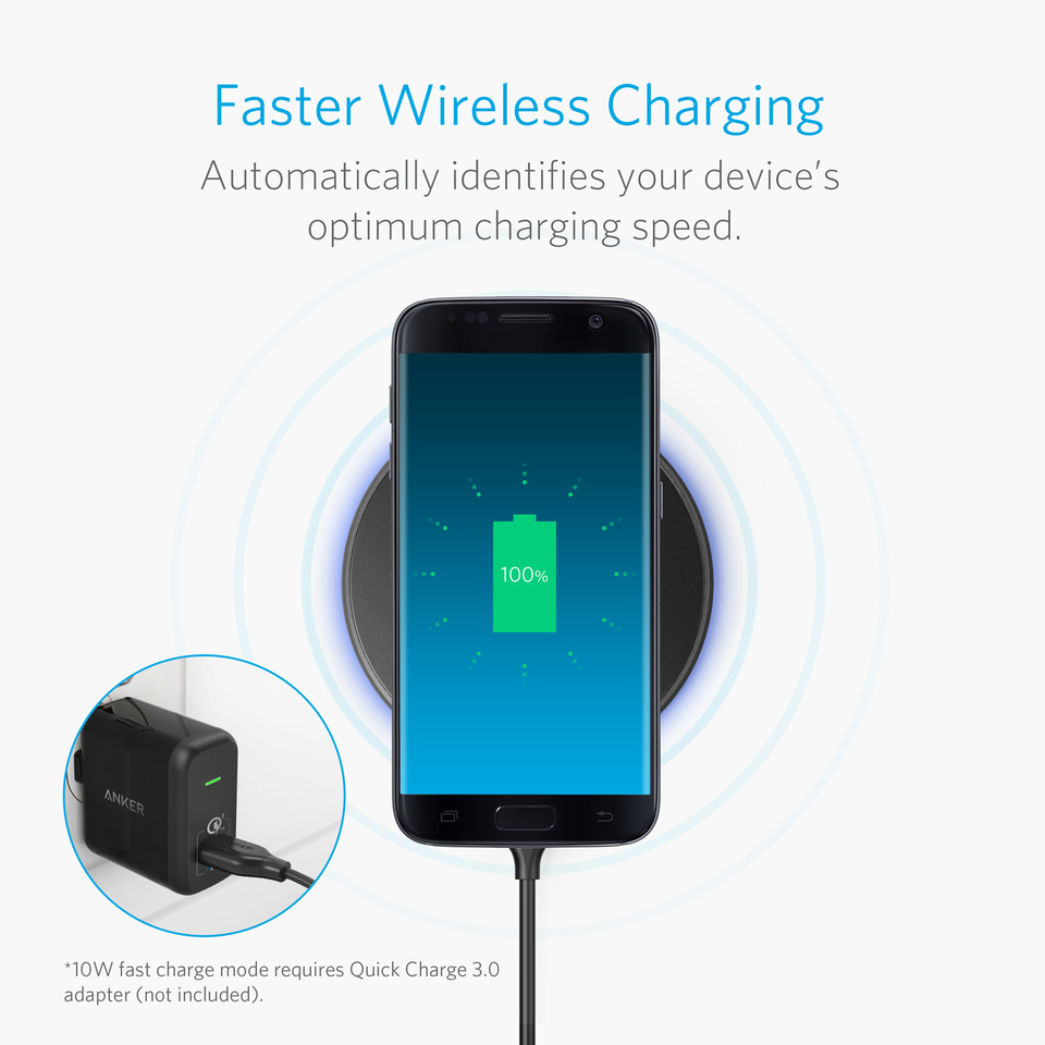 Anker --PowerTouch 10W Wireless Charger