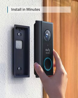 Eufy Battery Powered Video Doorbell 2K HD with HomeBase