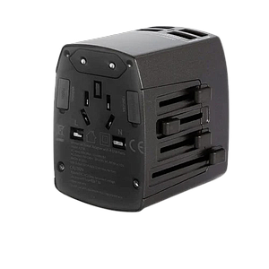 Anker Universal Travel Adapter with 4 USB Ports -- Black
