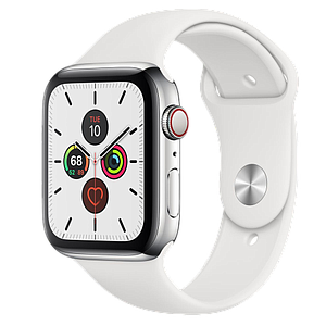 Apple Watch Series 5 GPS Cellular 44mm Stainless Steel with   Sport Band