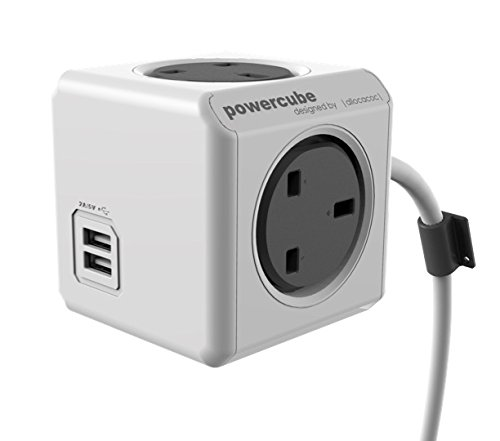 Allocacoc PowerCube Extended USB UK 4Plug & 2USB 1.5M