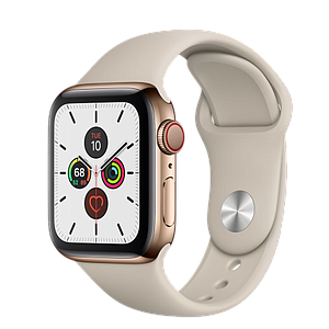 Apple Watch Series 5 GPS and Cellular 40mm   Stainless Steel Case with Stone Sport Band S/M & M/L