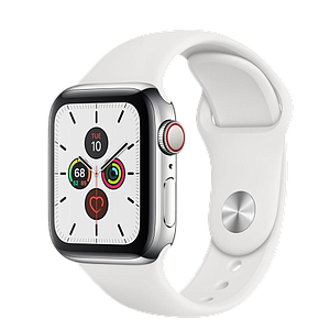 Apple Watch Series 5 GPS and Cellular 40mm Stainless Steel Case with   Sport Band S/M & M/L