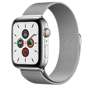Apple Watch Series 5 GPS and Cellular 40mm Stainless Steel Case with Stainless Steel Milanese Loop