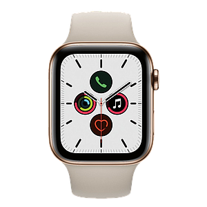 Apple Watch Series 5 GPS and Cellular 44mm   Stainless Steel Case with Stone Sport Band S/M & M/L