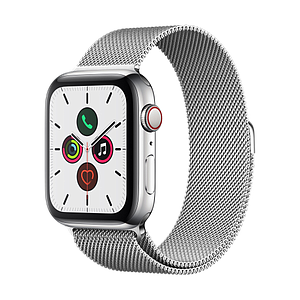 Apple Watch Series 5 GPS Cellular 44mm Stainless Steel Case with Stainless Steel Milanese Loop