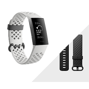 Fitbit Charge3 Heart Rate and Fitness Wristband Gunmetal