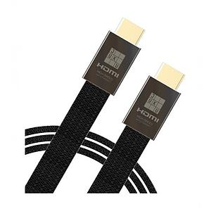 Juku High-Speed Hdmi 2.0 Ethernet 1.5M Flat Nylon Braided 24K   Plated