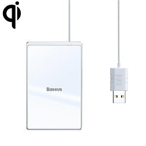 Baseus Card Ultra-Thin Wireless Charger 15W (With Usb Cable 1M) Silver+White