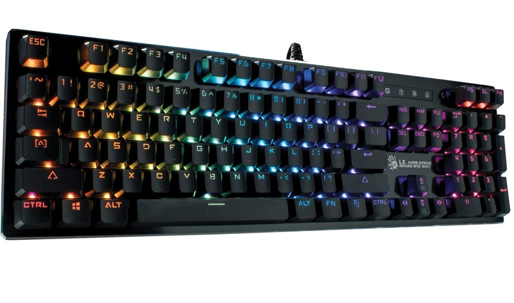 Bloody B820R Light Strike Rgb Animation Gaming Keyboad, Us Layout