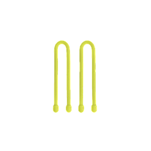 NiteIze Gear Tie Reusable Rubber Twist Tie 6 in [2-Pack] Neon Yellow