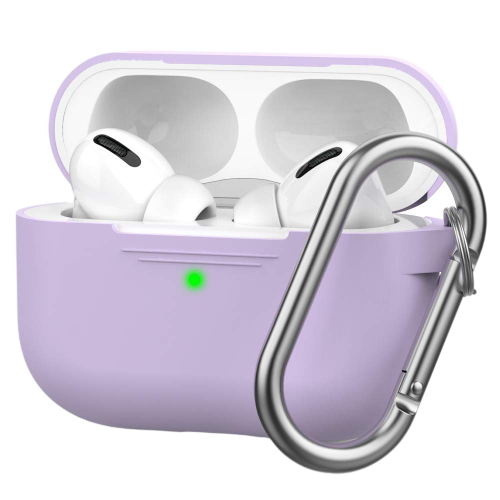 AhaStyle Full Cover Silicone Keychain Case for AirPods Pro - Lavender