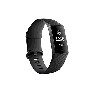 Fitbit Charge3 Heart Rate and Fitness Wristband Gunmetal Black