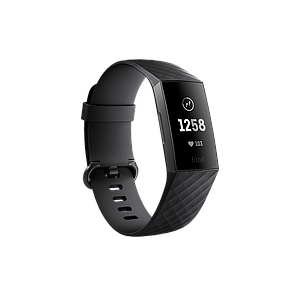 Fitbit Charge3 Heart Rate & Fitness Wristband Gunmetal Black