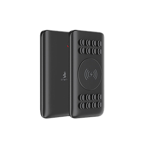 AirConnect iMate 10W Fast Wireless charge + 18 W PD & QC Premium Suction Power bank 10000 mah