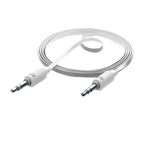 Cellularline AUXMUSIC CABLE 3,5MM TO 3,5MM JACK WHITE-1M