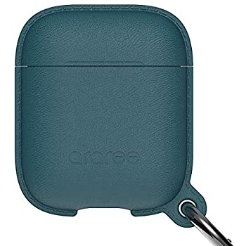 ARAREE POPS LEATHER TEXTURE SILICONE  CASE FOR APPLE AIRPODS PRO - FOREST BLUE