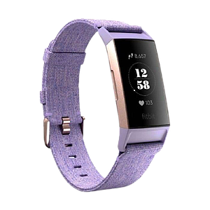Fitbit Charge3 Heart Rate + Fitness Wristband Lavender Woven SE