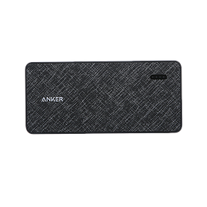 Anker PowerCore+ Metro 10000 with built-in USB-C Cable -Black Fabric