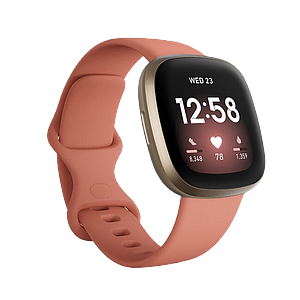 Fitbit Versa 3 GPS Smartwatch (Pink Clay / Soft Gold Aluminum)