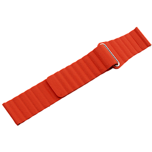 Coteetci Magnetic Universal Leather Back Loop Watch Band For Huawei/Samsung 46mm-22mm Orange